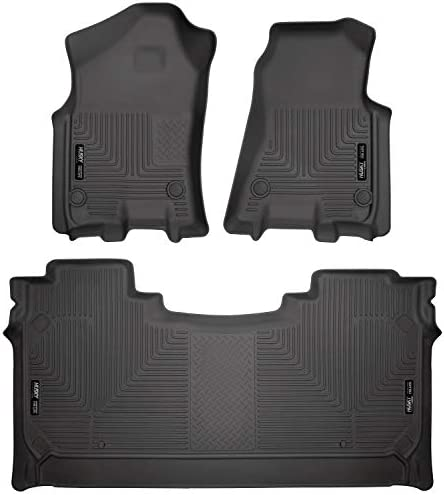 Husky Liners 94001 Fits 2019-20 Dodge Ram 1500 Crew Cab with factory storage box Weatherbeater Front & 2nd Seat Floor Mats, Black