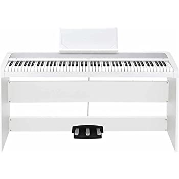 korg b1sp 88 keys digital piano with stand and 3 pedal unit white musical instruments. Black Bedroom Furniture Sets. Home Design Ideas