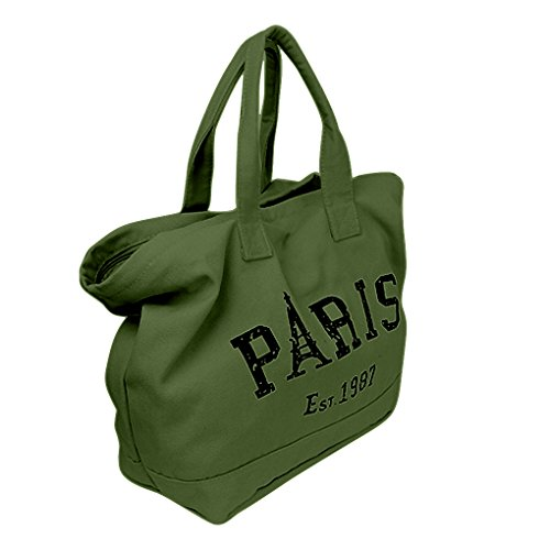 green Personality Shopping Bag Bag Shoulder Work Pouch Travel Womens Big Handbag Casual Tote Letter Satchel Beach ERZxg8xqw