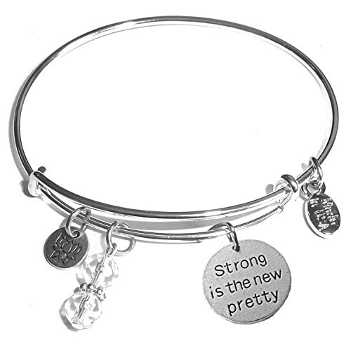 Hidden Hollow Beads Message Charm (84 Options) Expandable Wire Bangle Women