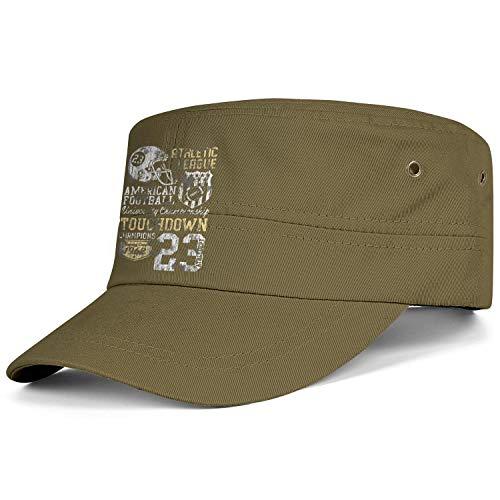 LYIN Unisex Military Caps 1962 Athletic League 23 Vintage Flat Top Cadet Army Caps