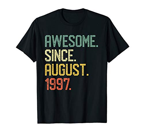 Awesome Since August 1997 Shirt 22 Years Old Gift Idea T-Shirt