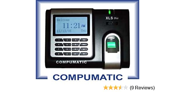 COMPUMATIC XLS BIO FINGERPRINT RECOGNITION BIOMETRIC EMPLOYEE PAYROLL TIME  CLOCK SYSTEM INCLUDES COMPUTIME101 USA SOFTWARE