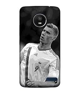 ColorKing Football Pogrebnyak Russia 01 Grey shell case cover for Motorola Moto E4