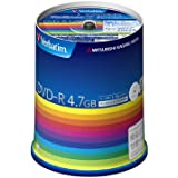 バーベイタム データ用16倍速対応DVD-R 100枚パック 4.7GB ホワイトプリンタブルVerbatim DHR47JP100V3