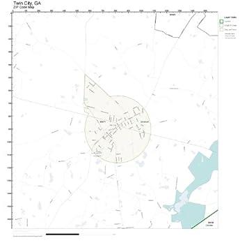 Amazoncom ZIP Code Wall Map of Twin City GA ZIP Code Map Not