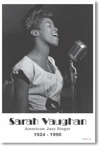 Sarah Vaughan - NEW Famous African American Jazz Singer Poster