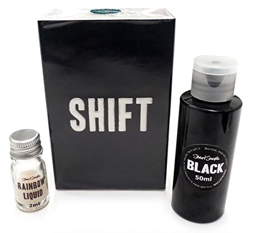 Stuart Semple Shift - Colour Changing Rainbow Paint - Black 2.0 x Rainbow Liquid