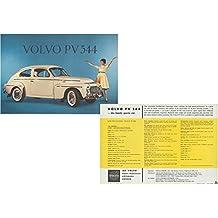 1959 1960 Volvo Pv 544 Sedan Vintage Orignal Color Sales Sheet Brochure Ur 6749 2 9 59 Usa Beautiful