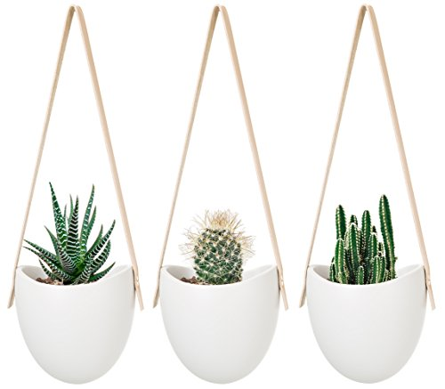 Mkono Ceramic Hanging Planter Su...