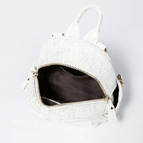 Dual Antifurto Cool Elegante Zaino Mclb Small Use morbida Travel White Borsa Trend Multifunzionale Ladies pelle in Impermeabile Bq6fUR6awF