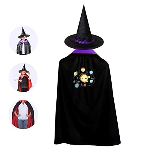 Kids So hot Halloween Costume Cloak for Children Girls Boys Cloak and Witch Wizard Hat for Boys Girls -
