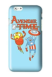 Adventure Time Finn and Jake Snap on Plastic Case Cover Compatible with Apple iPhone 6 Plus 6+