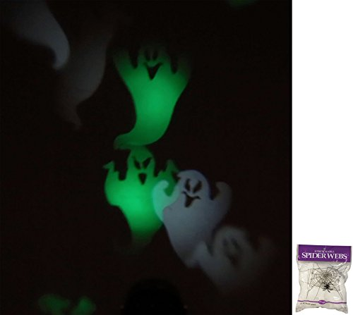 Potomac Banks Halloween Party Projector (Ghosts) with Free Spider Web ()