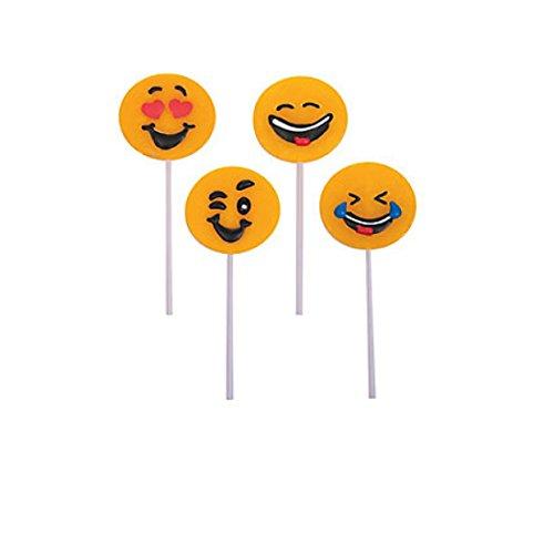 Emoji Frosted Lollipops 12 Suckers