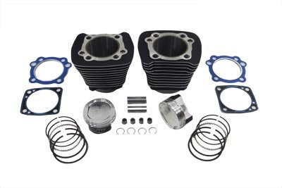V-Twin 11-0355 1200cc Cylinder and Piston Conversion Kit Black