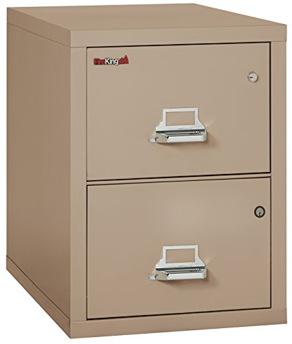 - FireKing Legal Safe-in-A-File Fireproof Vertical File Cabinet (1 Drawer, Impact Resistant, Waterproof), Taupe