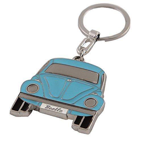 Genuine Volkswagen VW BLUE Classic Beetle Keychain Key Ring Bug Key Chain Keytag AND Gift Box
