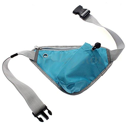 mk. park - Unisex Bum Bag Fanny Pack Travel Sport Belt Hip Waist Pouch Holiday Money Wallet (Triangle) (Blue) (Holiday Upward Park)