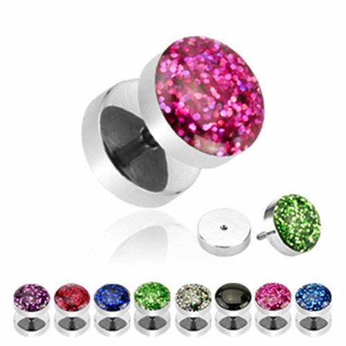 aqua glitter plugs - 4