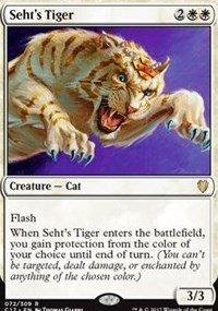 Magic the Gathering Sehts Tiger Commander 2017