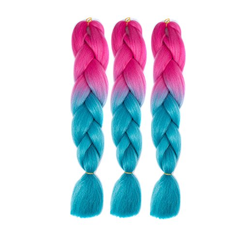 """Pancy 3pcs 24"""" Braid Hair Kanekalon Jumbo Ombre Synthetic for sale  Delivered anywhere in Canada"""