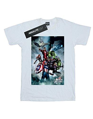 Team Marvel Homme Blanc Avengers Montage T shirt Ox0RwS6n0