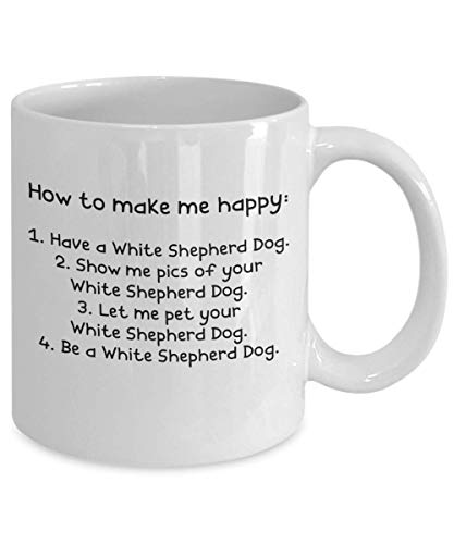 White Shepherd Dog Gifts - Gift Mug - White 11oz 15oz Ceramic Tea Coffee Cup - Perfect For Travel And Gifts 2