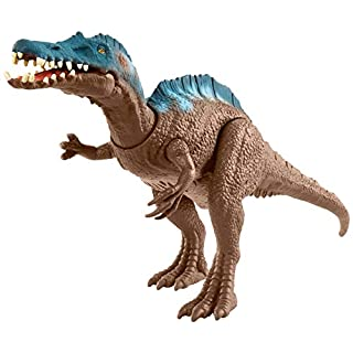 Jurassic World Sound Strike Dinosaur Action Figure with Strike and Chomping Action, Realistic Sounds, Movable Joints, Authentic Color and Texture; Ages 4 and Up