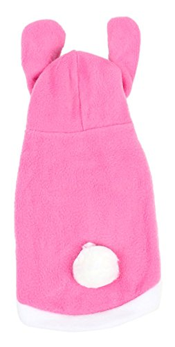 Breasted Rabbit (Uxcell Rabbit Design Single Breasted Pet Dog Clothes Coat, Small, Pink/White)