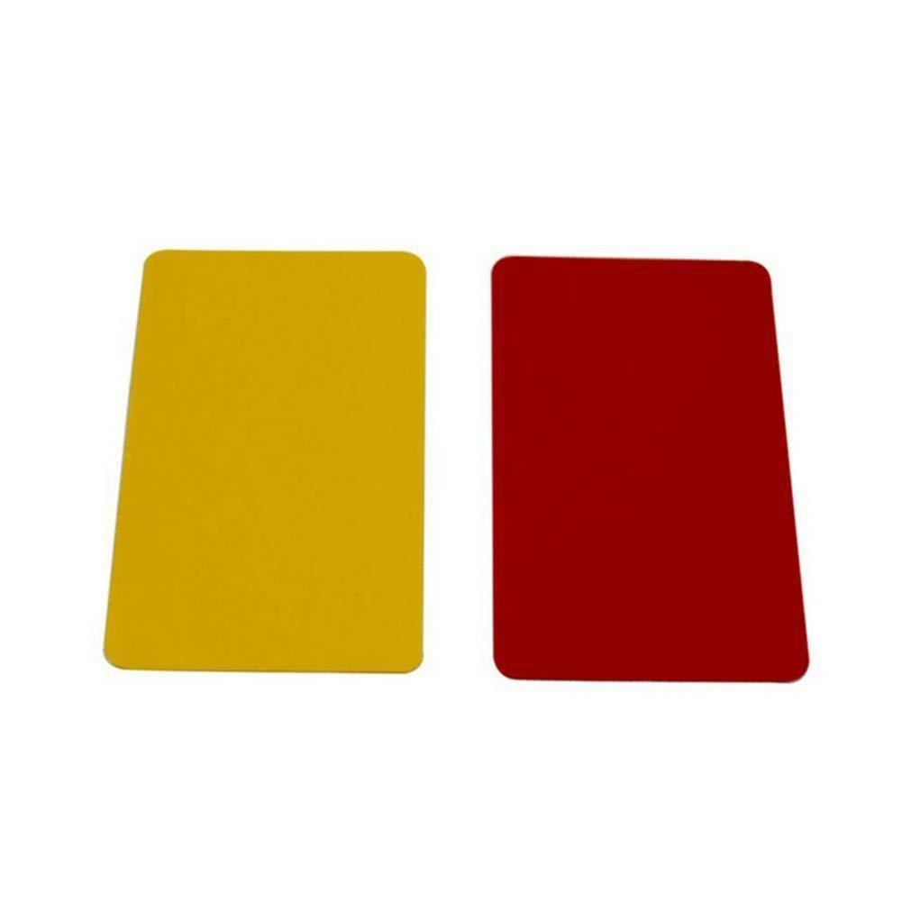 Juego de tarjetas de árbitro de fútbol deportivo, tarjeta roja y amarilla con tarjeta de árbitro de fútbol