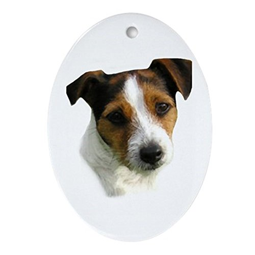 CafePress Jack Russell Watercolor Oval Holiday Christmas Ornament