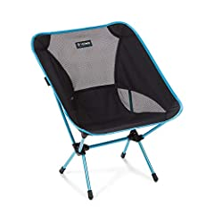 The original Helinox Chair One ensures everyone has a seat at the table (and everywhere else). This lightweight, compact camping and backpacking chair packs smaller and weighs less than a bottle of wine. The Helinox Chair One Camping Chair me...