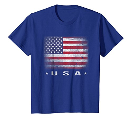 USA Flag T-shirt 4th July Fourth Red White Blue Star Stripes