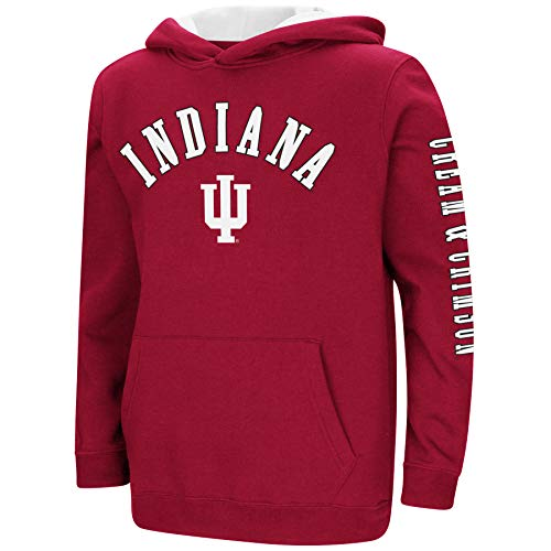 Colosseum NCAA Youth Boys-Crunch Time-Hoody Pullover-Indiana Hoosiers-Crimson-Youth
