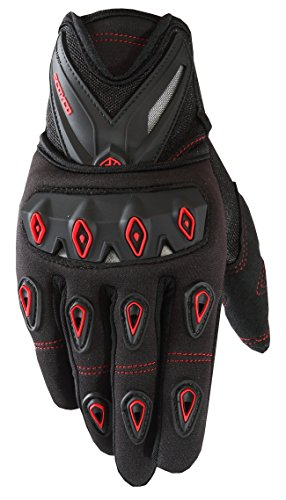 CRAZY AL'S SCOYCO MC10 Gloves Professional Motorcycle Motocross Racing Full Finger Gloves Sportswear Cycling Outdoor Sports Gloves Red Black Blue M/L/XL/XXL (M, Red)