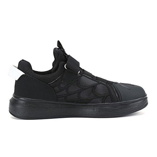 AFFINEST Zapatillas de Deporte Unisex Niños Respirable Zapatos Corrientes Al Aire Libre Sneakers Casual Negro