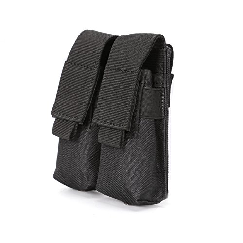 - Nehostertfy Tactical Double Pistol Magazine Pouch Mag Holder