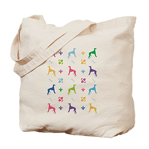 CafePress - Whippet Designer - Natural Canvas Tote Bag, Cloth Shopping (Whippet Tote Bag)