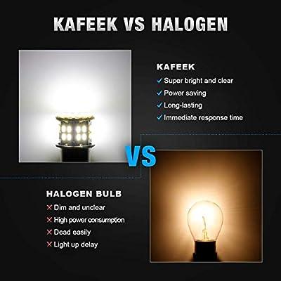 KAFEEK 20× Super Bright 1156 1141 1003 7506 BA15S 50-3014SMD LED Bulbs 12 Volt RV Camper Interior Lights, Xenon White: Automotive