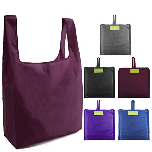 5 Pack Reusable Grocery Bags for Shopping … …