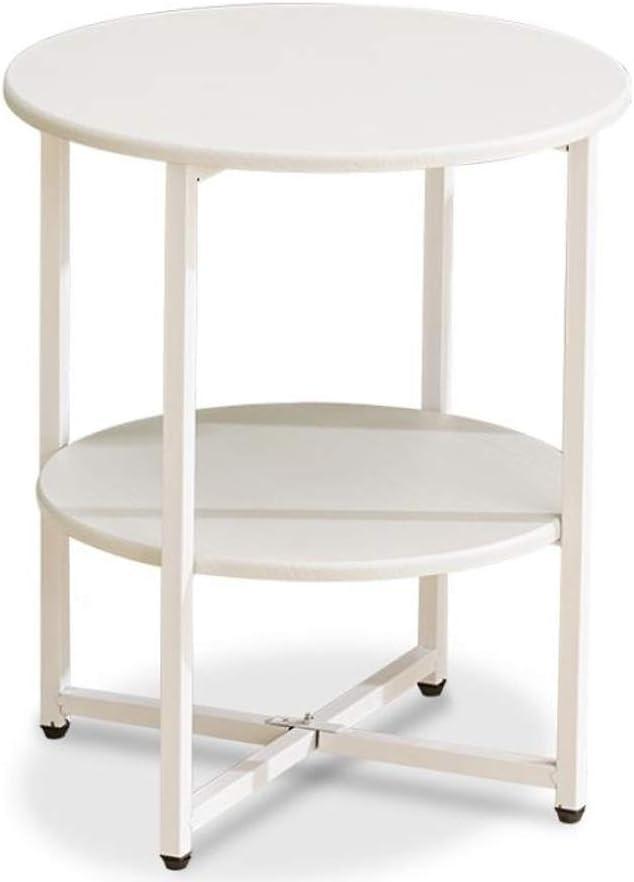 Nieuwe Aankomstmode 1.14 salontafel, woonkamertafel, 2 dier, bijzettafeltje ijzer + hout, salontafel, bijzettafel, nachtkastje met opbergplank, voor woonkamer (kleur: zwart) wit rwq3MFu