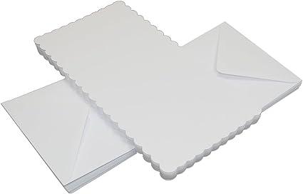 "Craft uk 50 x White 6/"" x 6/"" Square Card Blanks and Envelopes"