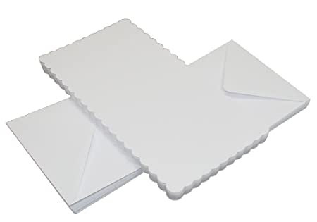 craft uk 836 6 x 6 inch scalloped card and envelope pack of 50