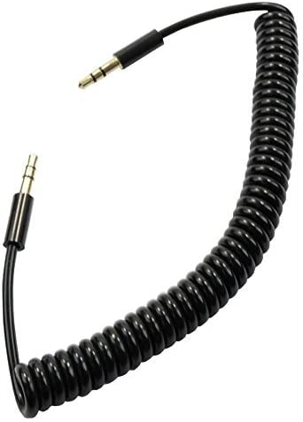 """3ft Mobile-Type Stereo 3.5mm 1//8/"""" TRS Male to Male White Flexible Audio Cable"""