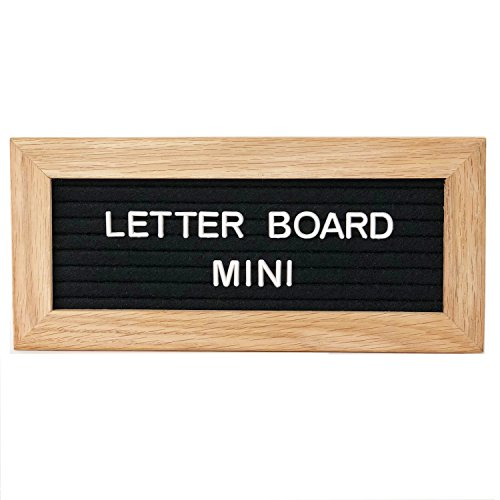ReadyWerks Felt Letter Board Mini - Black Mini Letter Board Includes 175 1/2 inch Characters. Small Felt Letter Board Name (Small Nameplate)