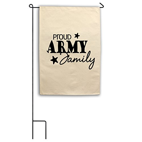 "Proud Army Family Style 1 Canvas Yard House Garden Flag 18""x"