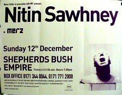 Nitin Sawhney - Shepherds Bush Poster - 77x110cm
