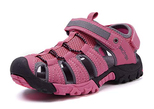 - BMCiTYBM Girls Hiking Sport Sandals Toddler Kid Closed Toe Water Shoes Pink Size 3