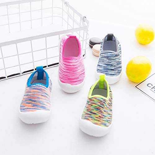 YOHA Boys Girls Breathable Mesh Water Shoes Soft Rubber Sole Toddler Sneaker Kids Slip-on Beach Shoes